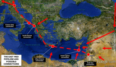 Promotion of East Med undersea gas pipeline