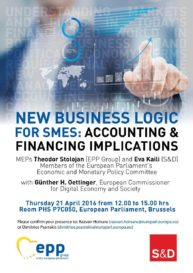 NEW BUSINESS LOGIC FOR SMEs: ACCOUNTING AND FINANCING IMPLICATIONS